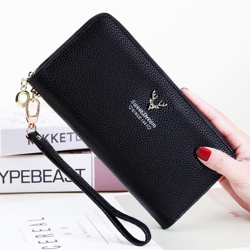 钱包 【送礼物】钱包女长款学生拉链包女士手拿包手提包手机包钱夹_推荐淘宝好看的女钱包