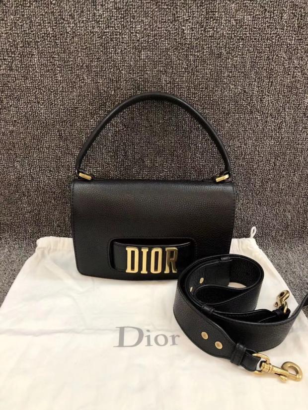 迪奥手提包 日本中古vintage二手Dior迪奥黑金宽肩带单肩手提包女包经典款_推荐淘宝好看的迪奥手提包