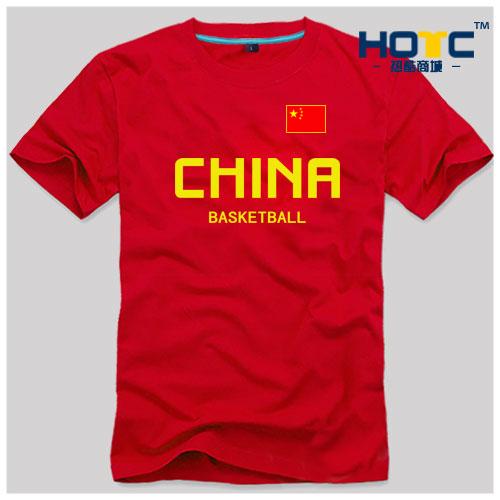 白色T恤 中国男篮 国家队 篮球服国旗 china 短袖 T恤 休闲运动 文化t恤衫_推荐淘宝好看的白色T恤