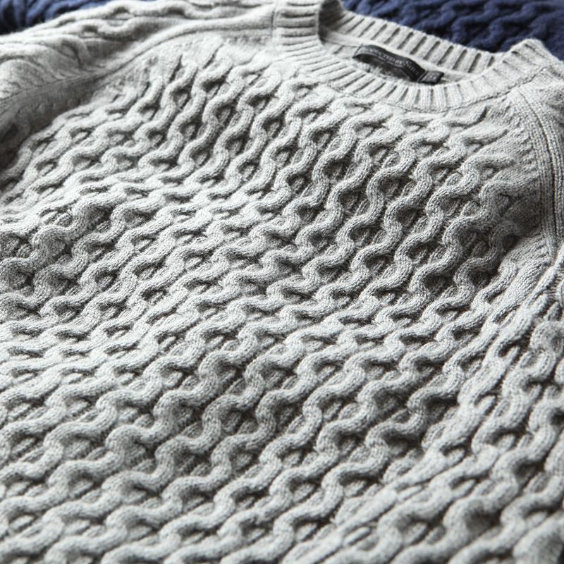 男士羊绒毛衣 【清仓特惠】 一件可以作为外套的针织衫 男士加厚羊绒羊毛衫圆领_推荐淘宝好看的男羊绒毛衣