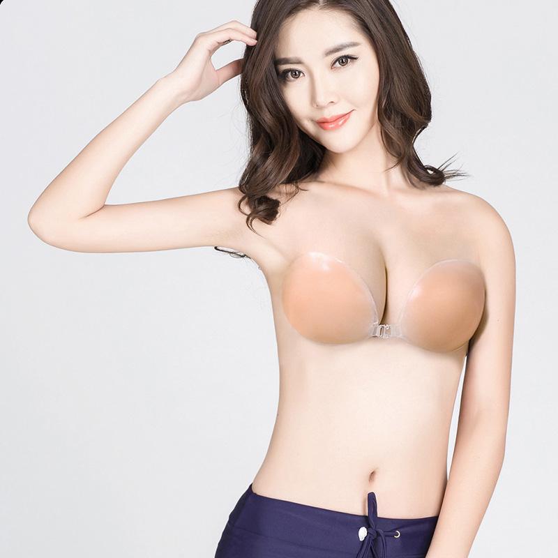 比基尼透气胸垫 泳衣大胸小胸聚拢加厚文胸硅胶防水胸垫比基尼婚纱bikini透气胸贴_推荐淘宝好看的比基尼透气胸垫