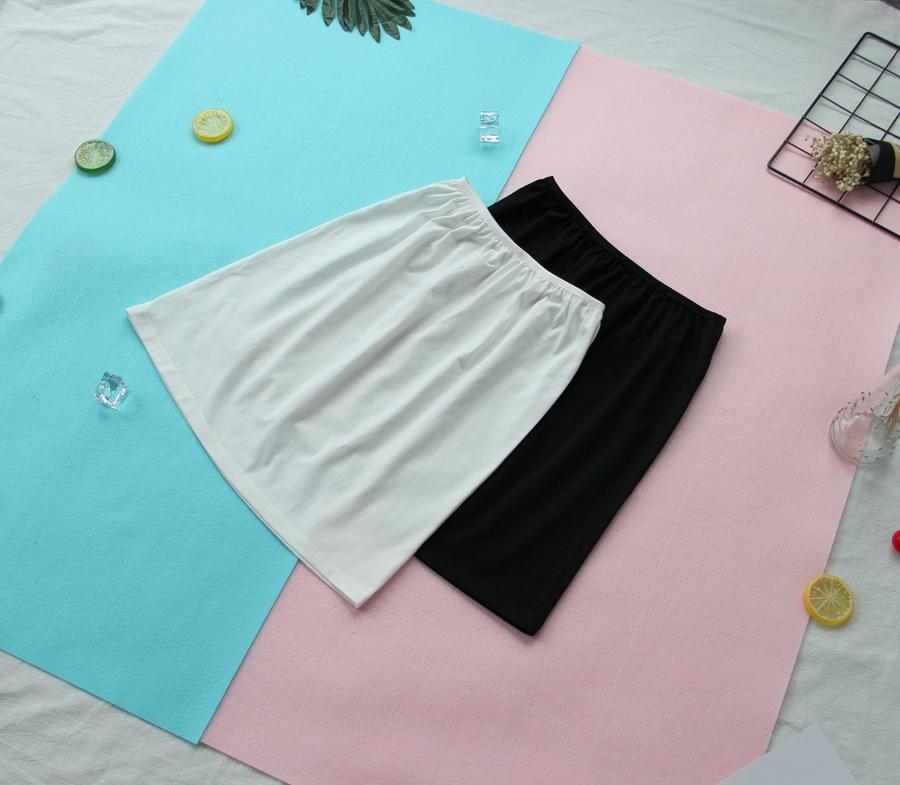 白色半身裙 防走光打底裙薄款纯棉衬裙有弹性的防静电半身裙内胆安全裙短裙_推荐淘宝好看的白色半身裙