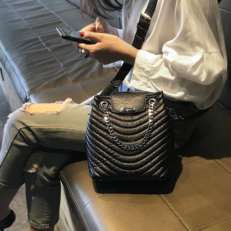 水桶包 水桶包女2018新款潮韩版质感手提百搭包包大容量单肩包斜挎包大包_推荐淘宝好看的女水桶包