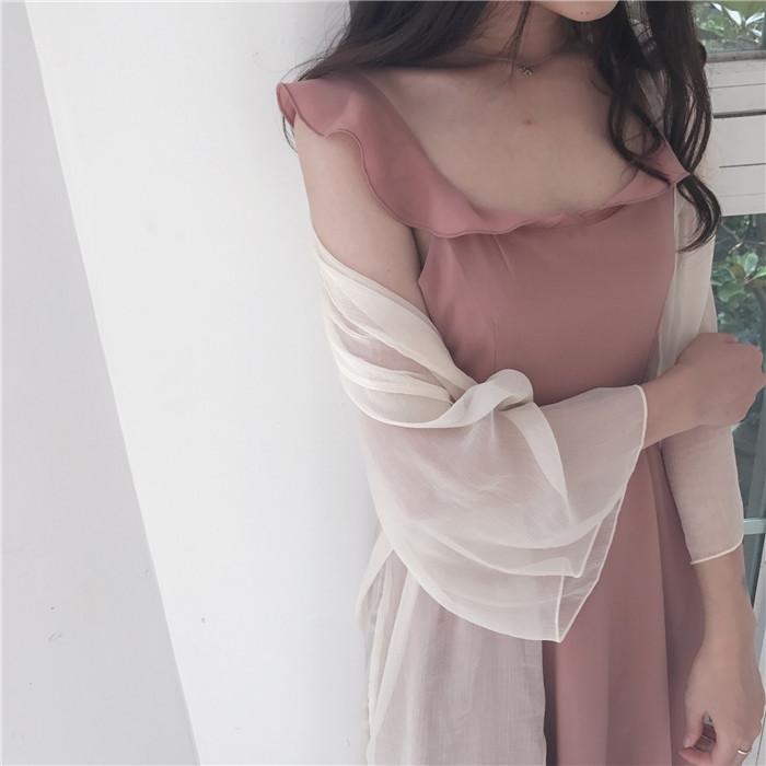 品牌连衣裙新款 Sweetheart   挥着翅膀的女孩  reformation同款绑带荷叶边连衣裙_推荐淘宝好看的连衣裙