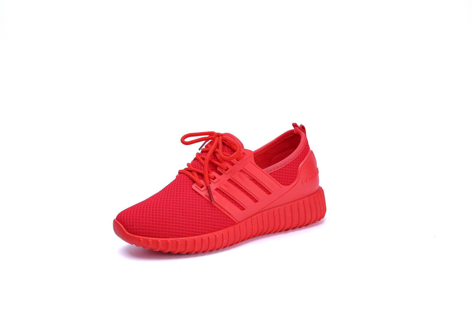红色运动鞋 运动红色男鞋小黑小红鞋本命年哈伦裤配小脚休闲平板鞋纯色韩式鞋_推荐淘宝好看的红色运动鞋