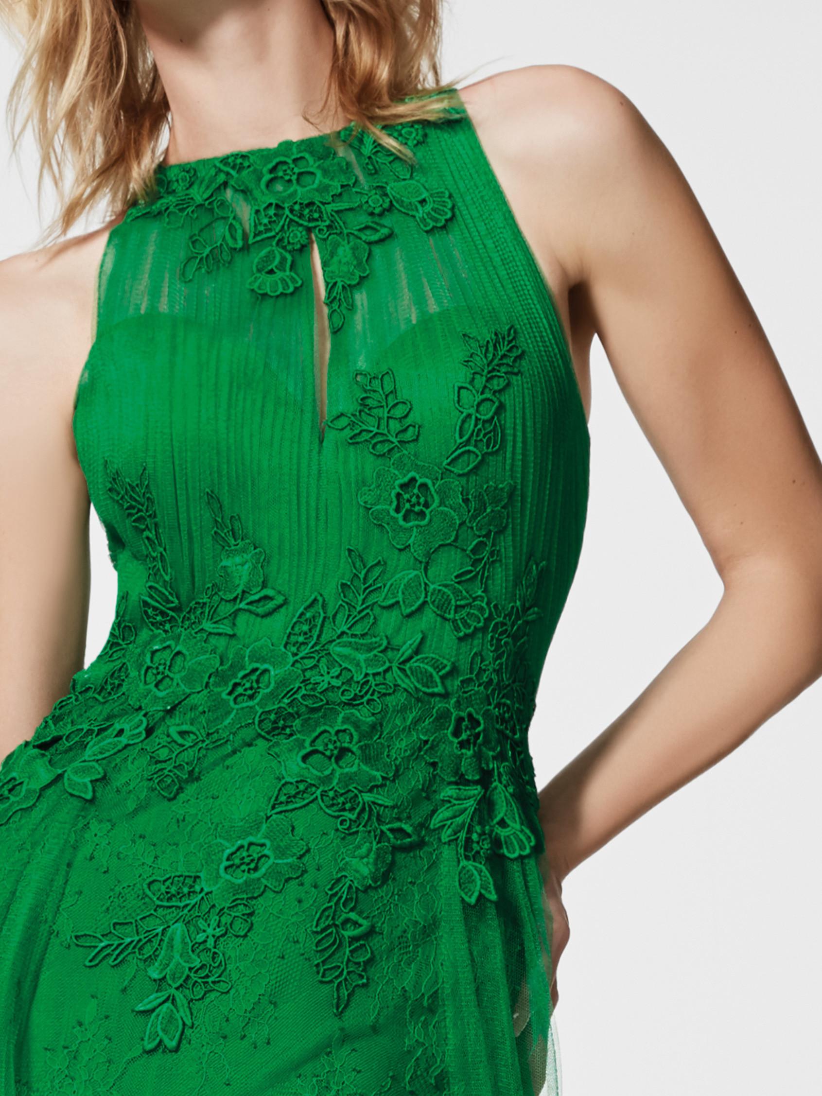 礼服 西班牙 礼服 直筒礼服裙 柔软的绢网 挂脖领_推荐淘宝好看的礼服