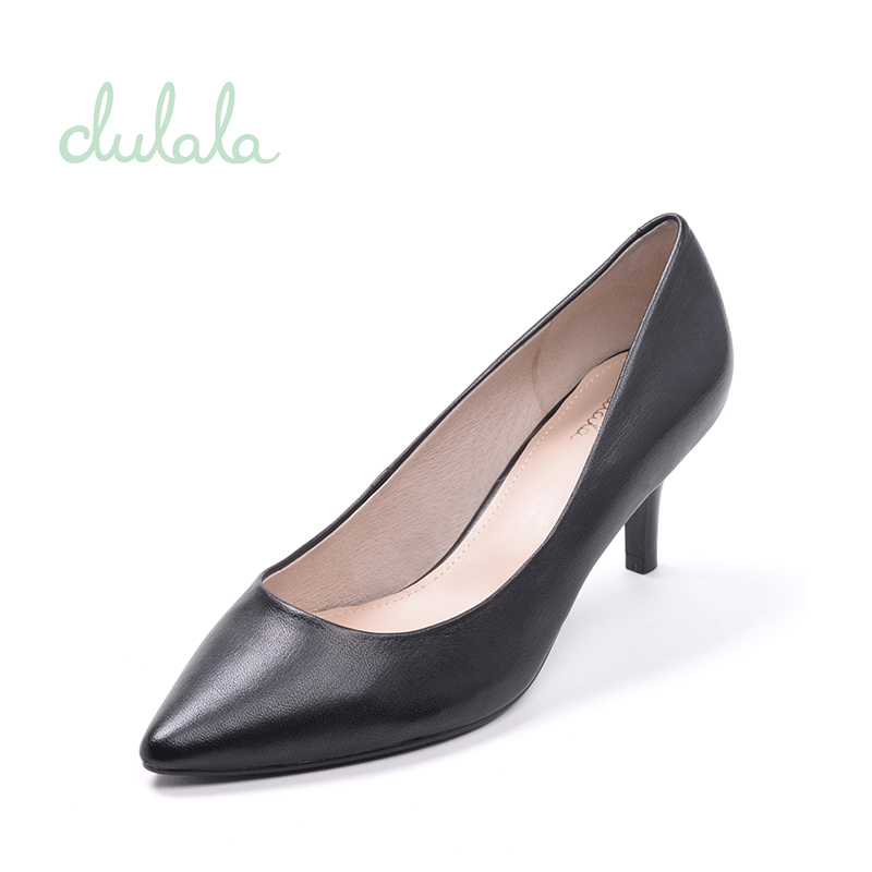 高跟单鞋 Daphne达芙妮旗下杜拉拉系列女单鞋尖头浅口高跟鞋1716101004_推荐淘宝好看的女高跟单鞋