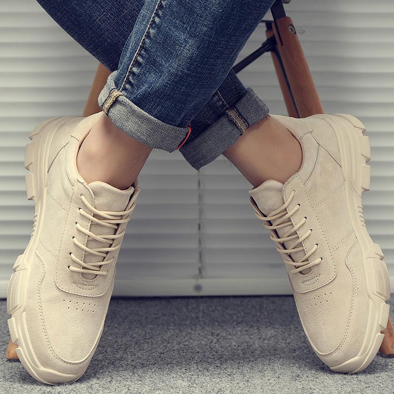 低帮复古板鞋 夏季透气英伦复古工装大头皮鞋男士运动休闲板鞋老爹潮鞋低帮鞋子_推荐淘宝好看的低帮复古板鞋