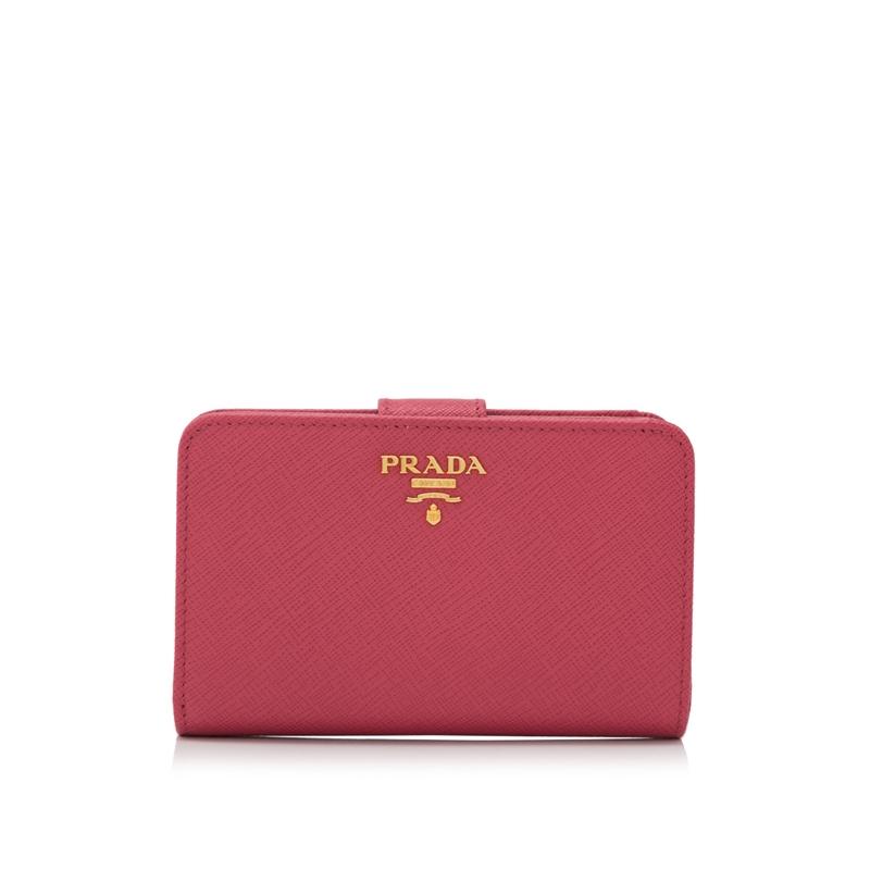 prada钱包 Prada普拉达 女士十字纹牛皮短款折叠钱包LY_推荐淘宝好看的女prada钱包