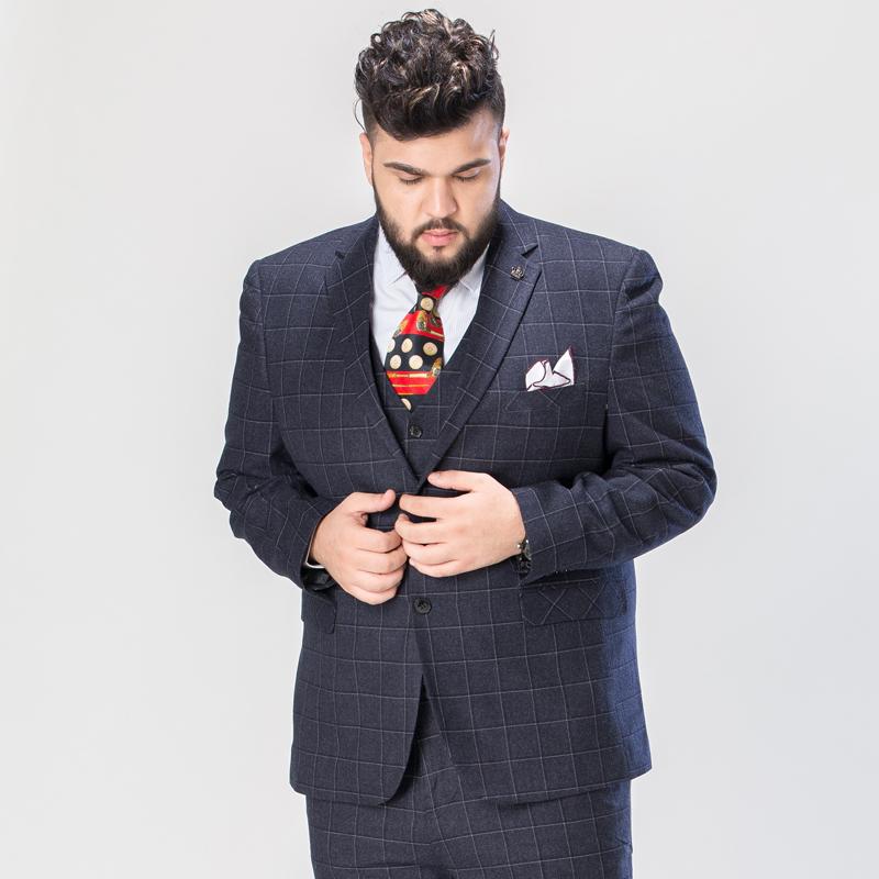 男士结婚西装 2018新款胖子西装男套装新郎结婚西服套装男士伴郎加大码西服外套_推荐淘宝好看的男结婚西装