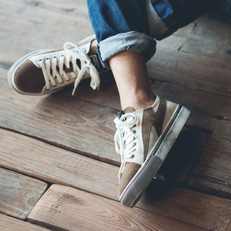 低帮复古板鞋 港风学生帆布鞋男夏季复古百搭低帮潮鞋子男韩版潮流休闲男生板鞋_推荐淘宝好看的低帮复古板鞋
