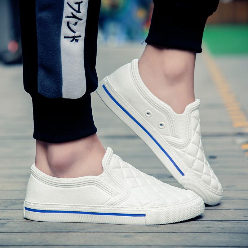 板鞋 夏季塑料凉鞋塑胶板鞋雨天防水沙滩韩版平板懒人男鞋青少年一脚蹬_推荐淘宝好看的板鞋