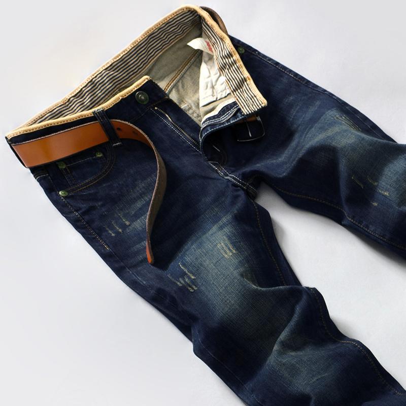 男士牛仔裤 男士牛仔长裤子夏季超薄款春季男款商务休闲透气直筒宽松大码nzk_推荐淘宝好看的男牛仔裤