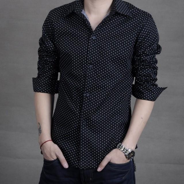 男士修身长袖衬衫 男士韩版纯棉白色长衬衫潮夏季男士薄款长袖衬衫修身超薄长袖衬衣_推荐淘宝好看的男修身长袖衬衫