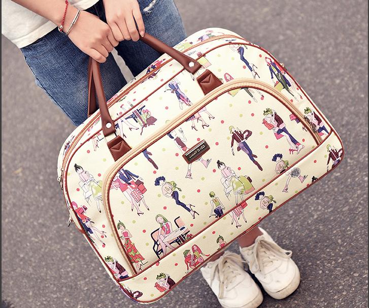 旅行帆布包 双肩包男帆布包超大容量防水轻便旅行装衣服的行李背包女出差旅游_推荐淘宝好看的女旅行帆布包