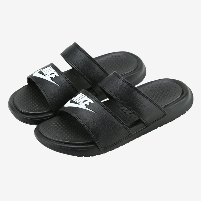 耐克老款运动鞋 NIKE BENASSI ULTRA男女鞋绑带休闲沙滩鞋忍者运动拖鞋819717-010_推荐淘宝好看的女耐克运动鞋