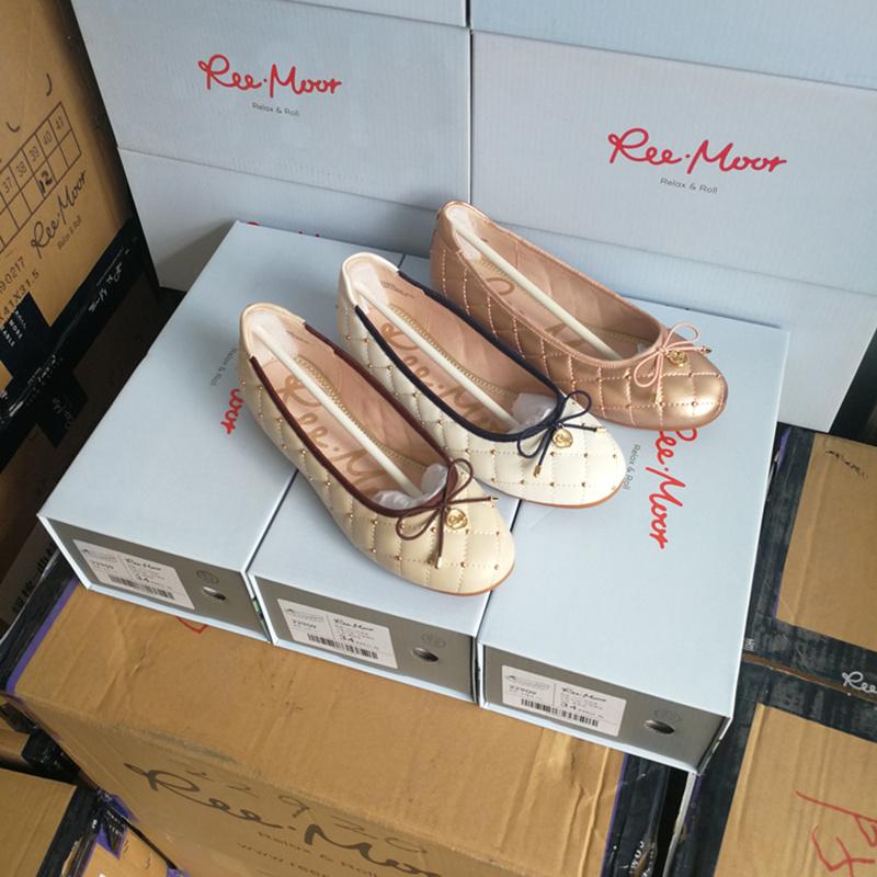 平底鞋 reemooor2019新款女鞋芭蕾舞平底鞋圆头学院商场同款百睿22909慕_推荐淘宝好看的女平底鞋