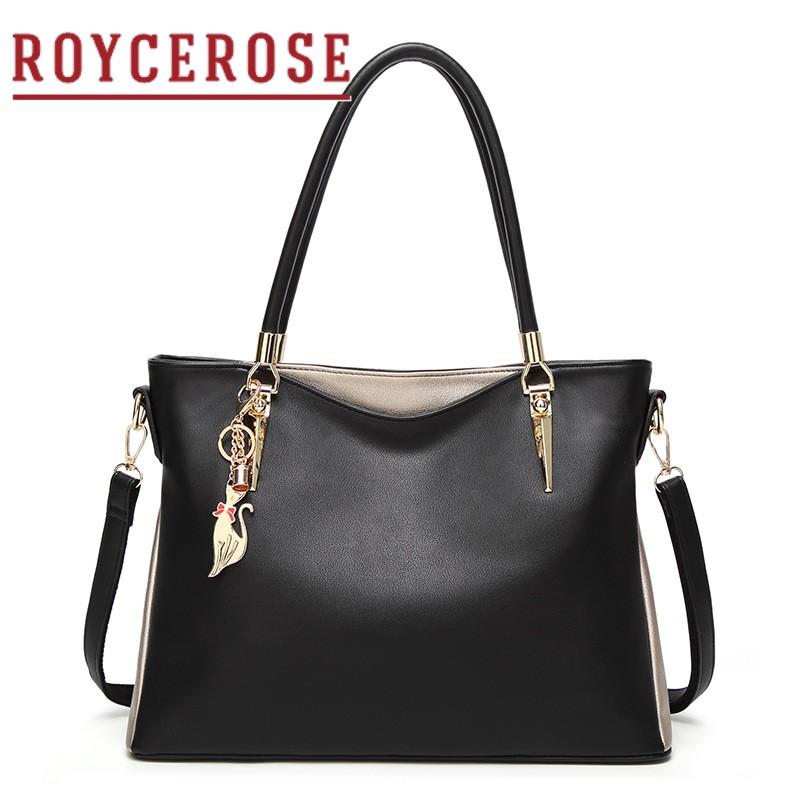 彭丽媛手提包 ROYCEROSE新款欧美时尚手袋单肩包女斜挎包手提包大容量包包XJ826_推荐淘宝好看的女手提包
