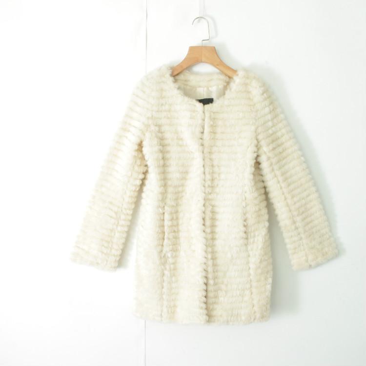 外套 U08004女装精品秋冬新款挂扣修身显瘦女纯色仿皮草段段大衣外套_推荐淘宝好看的女外套