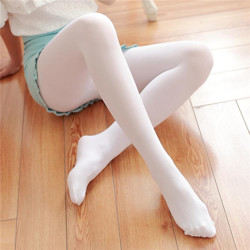 丝袜 防勾丝天鹅绒连裤袜日系肉色白色丝袜夏季薄款性感显瘦打底袜子女_推荐淘宝好看的丝袜