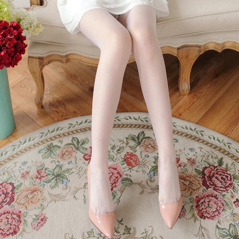 丝袜 日系白色包芯丝连裤袜透明隐形丝袜子性感超薄打底袜春夏女_推荐淘宝好看的丝袜