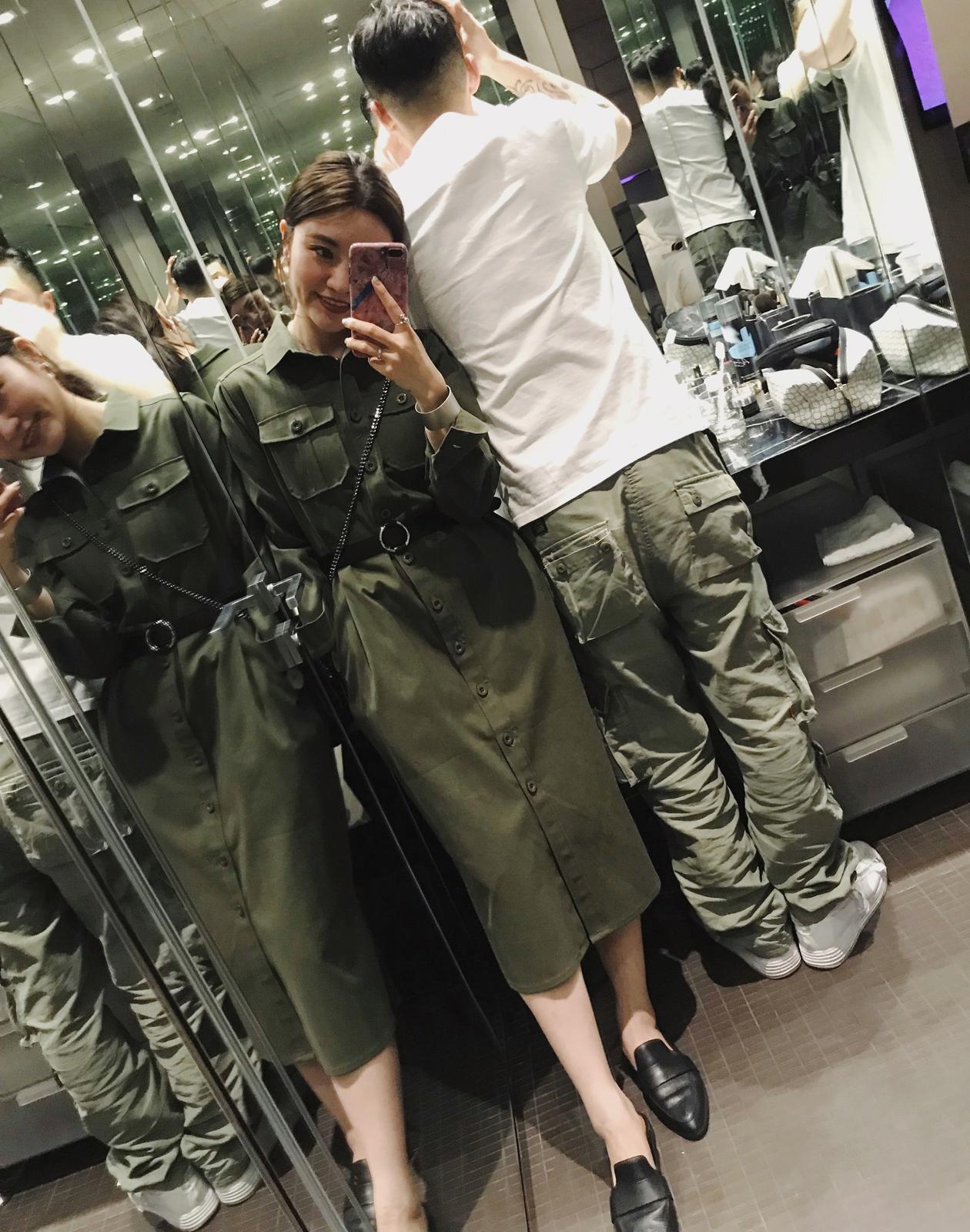 单排扣风衣 iWiNG 做我喜欢的衣服給喜欢我的人军绿色率性工装长款风衣外套女_推荐淘宝好看的单排扣风衣
