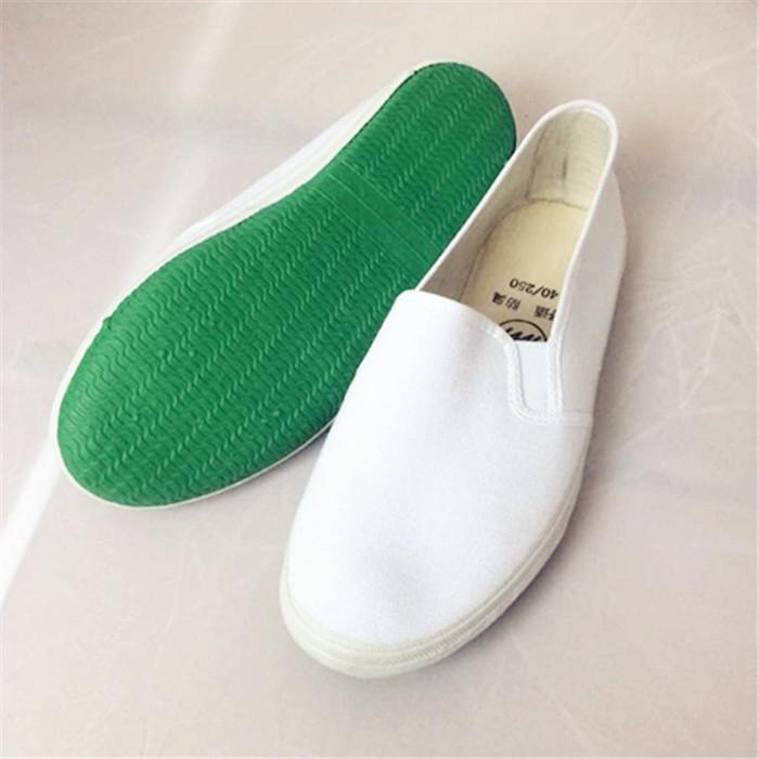 白色帆布鞋 白球鞋 白色帆布工作鞋 手绘帆布鞋 小白鞋黑色劳保 松紧大白网鞋_推荐淘宝好看的白色帆布鞋