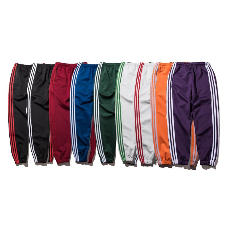紫色休闲裤 校服裤你的男孩tt Tizzy T同款复古三条杠高街运动裤休闲男女潮裤_推荐淘宝好看的紫色休闲裤