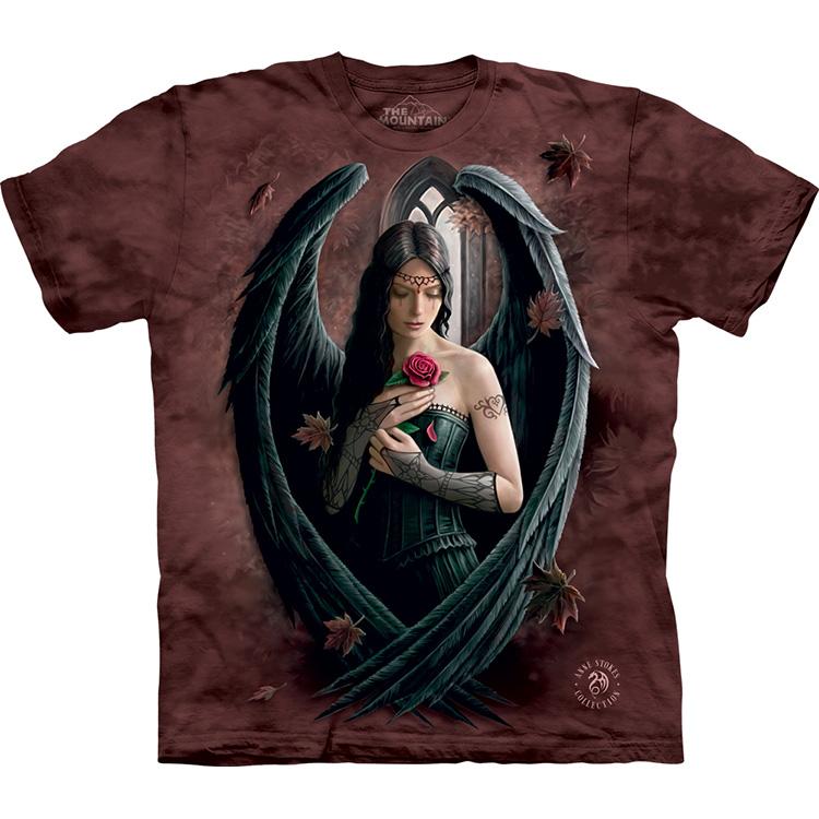 紫色T恤 美国The Mountain玫瑰天使立体短袖t恤_推荐淘宝好看的紫色T恤