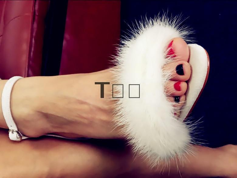 白色高跟凉鞋 silla rulers 女鞋 凉鞋 水貂真皮 超高跟 白色 黑色 色彩 可爱_推荐淘宝好看的女白色高跟凉鞋