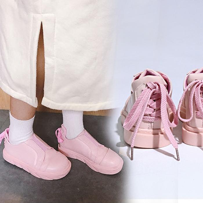 粉红色厚底鞋 软妹少女心粉红色小皮鞋韩国ulzzang厚底板鞋chic风原宿学生单鞋_推荐淘宝好看的粉红色厚底鞋