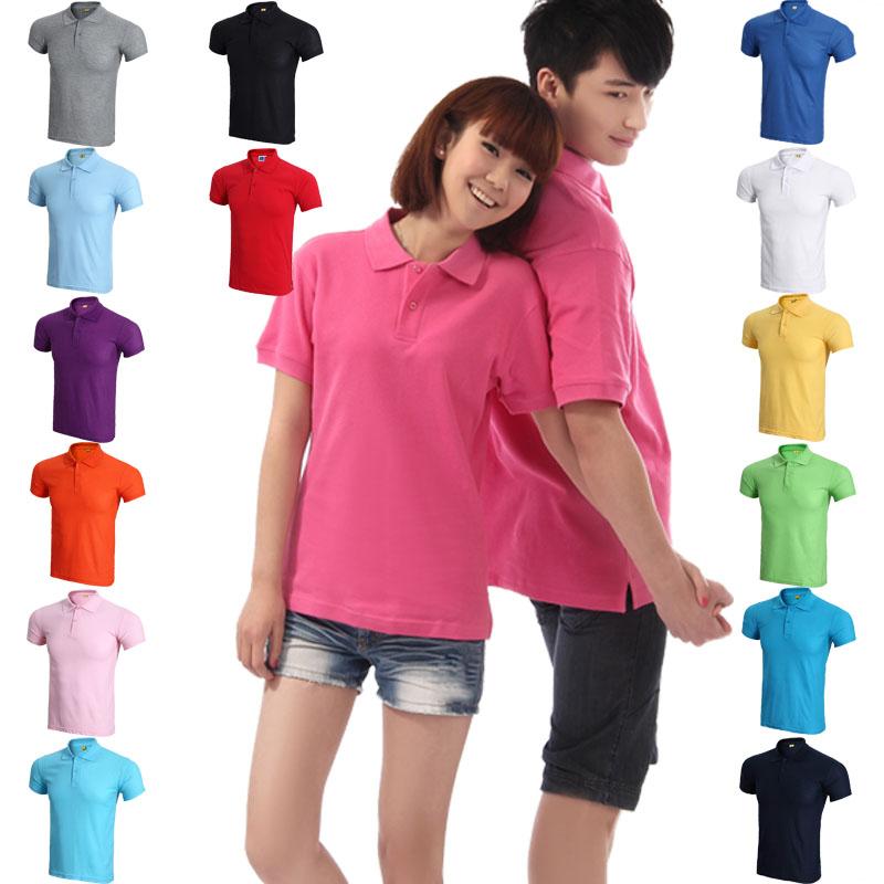 空白t恤 夏季棉空白翻领短袖女T恤_推荐淘宝好看的女空白t恤