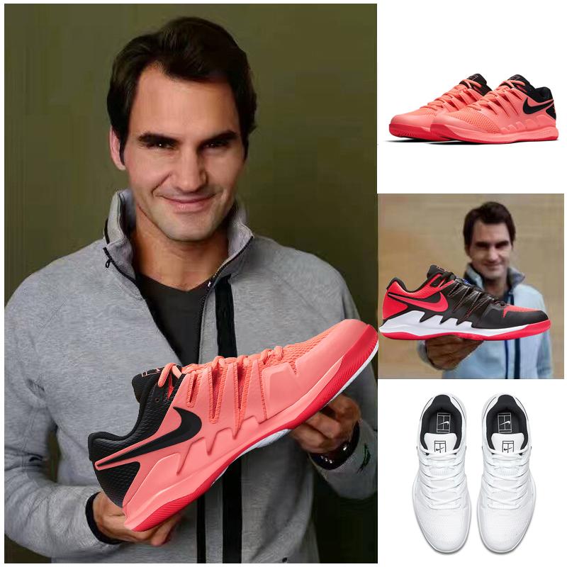 网球鞋 2018澳网耐克男Air Zoom X费德勒网球鞋运动鞋 耐磨气垫大师赛_推荐淘宝好看的男网球鞋
