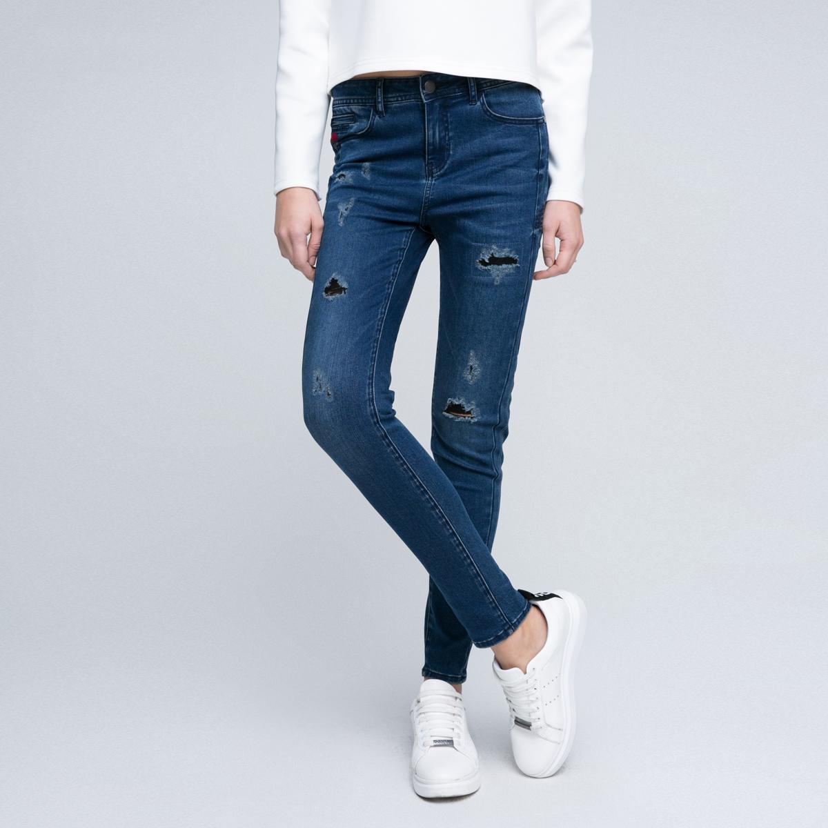 修身破洞牛仔裤 ONLY春季新款显瘦破洞修身牛仔裤女 117132515_推荐淘宝好看的女修身破洞牛仔裤