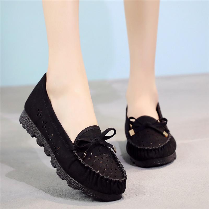 黑色凉鞋 2018新款夏季老北京布鞋女鞋凉鞋软底黑色工作鞋镂空妈妈鞋孕妇鞋_推荐淘宝好看的黑色凉鞋