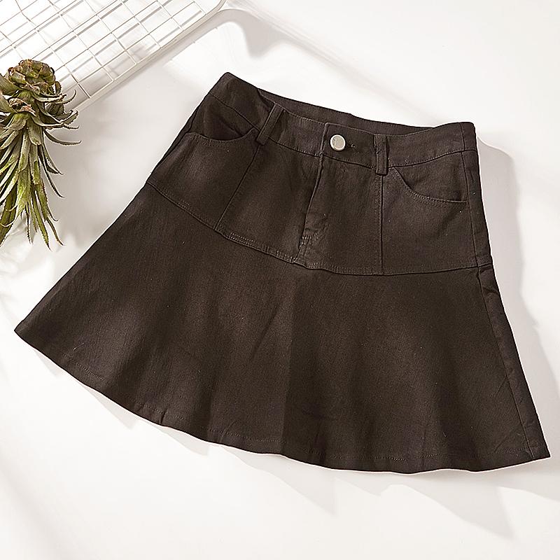 牛仔包臀半身裙 B17夏季新款显瘦高腰牛仔半身裙包臀A字裙裤8621_推荐淘宝好看的牛仔包臀半身裙