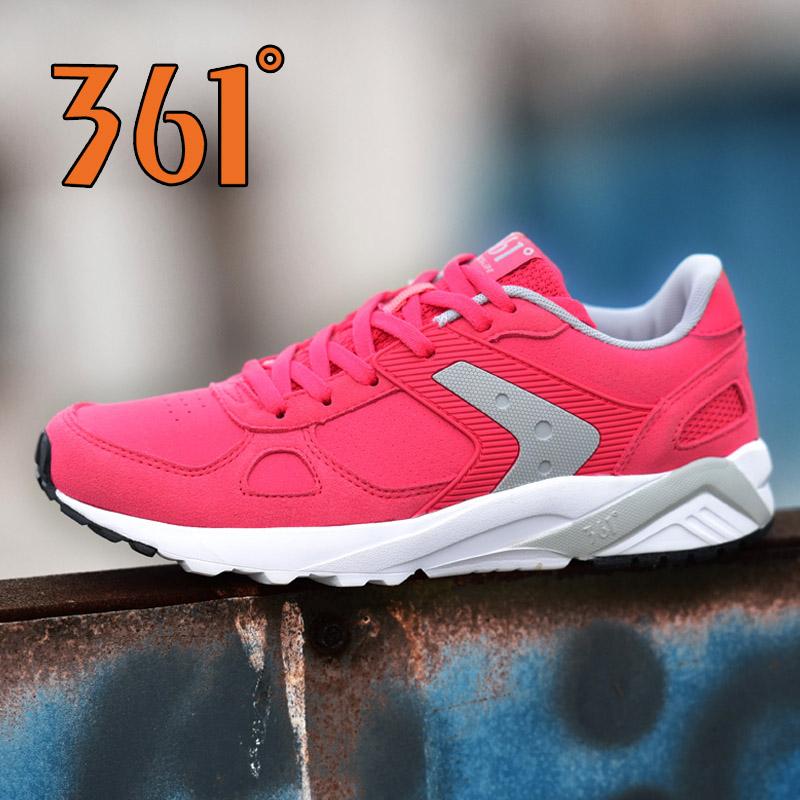 361度女士运动鞋 361女鞋跑步鞋夏季防滑运动鞋女 361度皮面休闲鞋复古轻便旅游鞋_推荐淘宝好看的女361度女运动鞋
