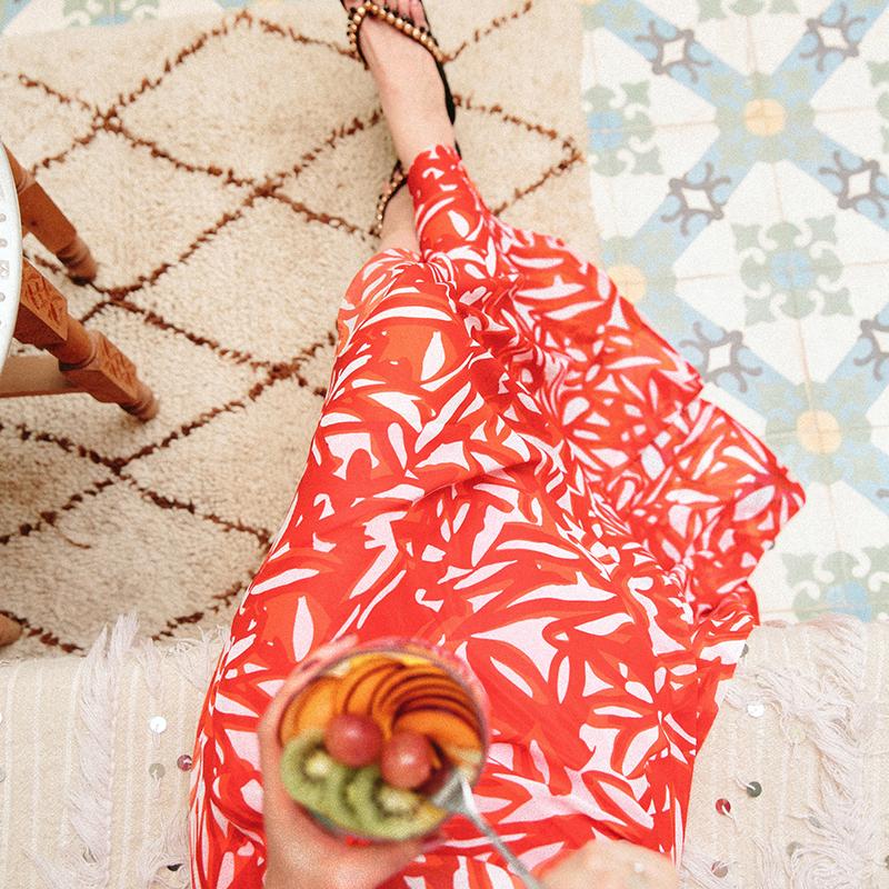 波西米亚半身裙沙滩裙 半身裙女夏高腰雪纺波西米亚2017新款中长款长裙海边度假沙滩裙子_推荐淘宝好看的波西米亚半身裙沙滩裙