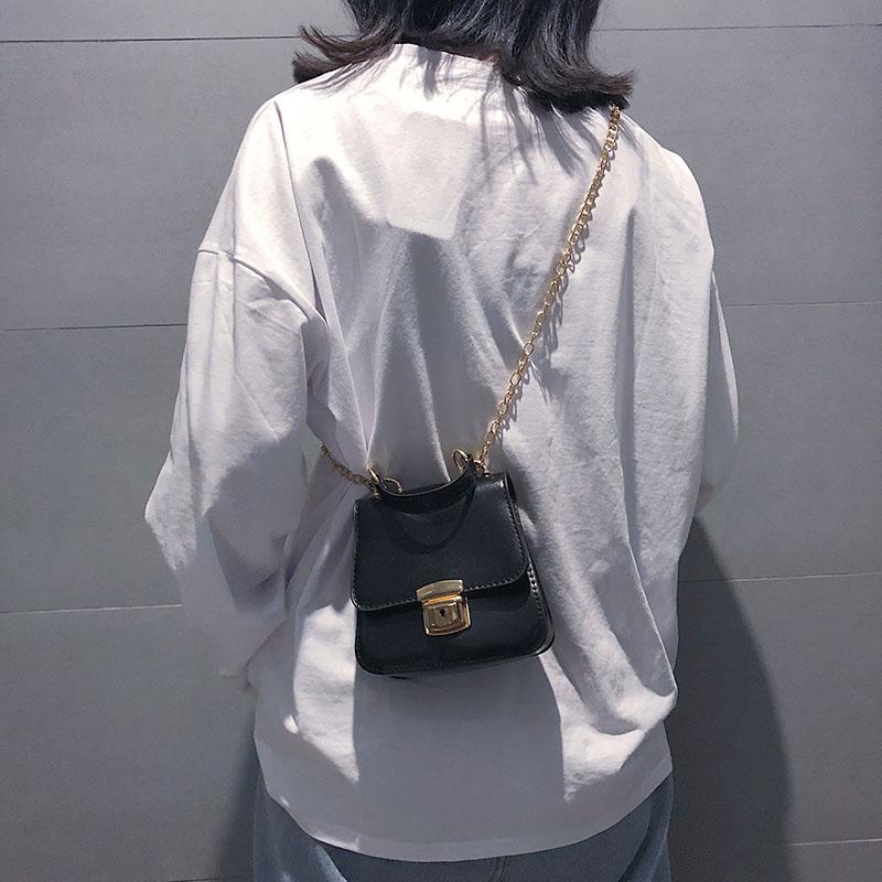 红色手提包 chic链条斜跨小包包女2018秋季新款韩版复古手提包复古迷你单肩包_推荐淘宝好看的红色手提包