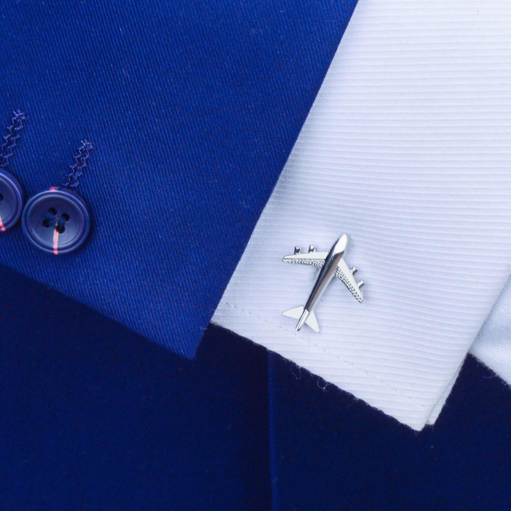 男士袖扣衬衫 男士飞机造型袖扣高档法式衬衫袖钉袖口扣女士款简约纽扣定制礼物_推荐淘宝好看的男袖扣衬衫