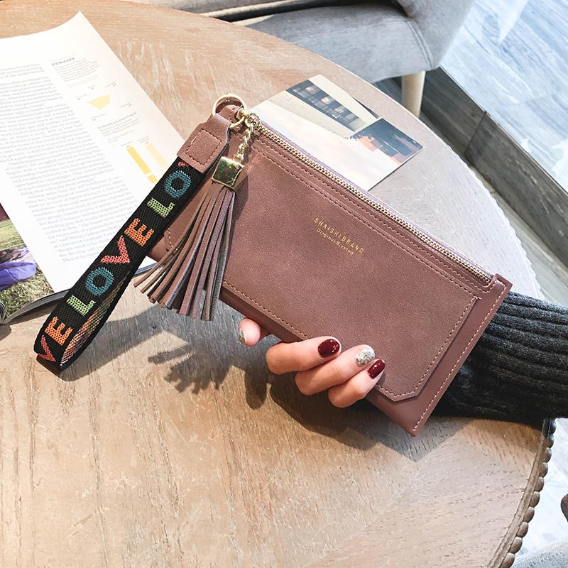 绿色钱包 2017新款韩版钱包女长款撞色复古双层钱夹女卡包零钱包手挽包潮包_推荐淘宝好看的绿色钱包