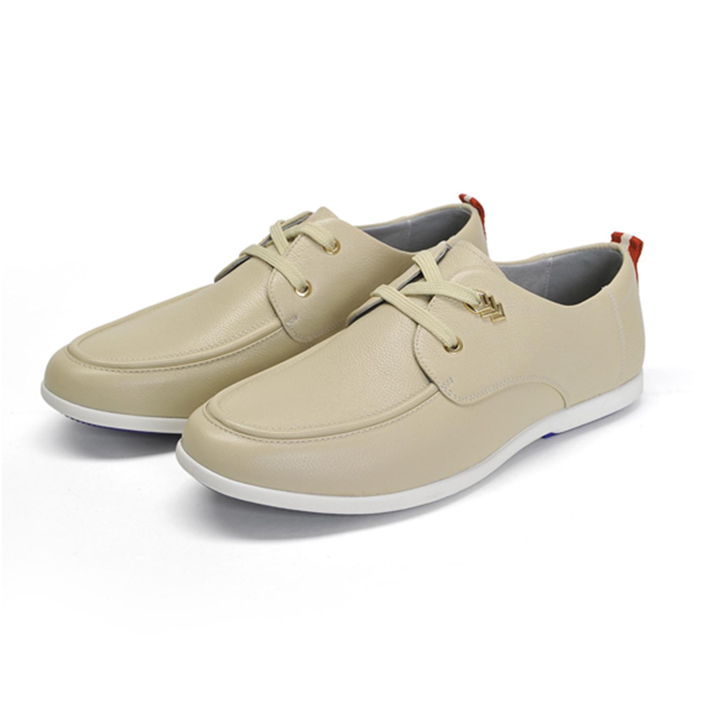 休闲低帮皮鞋 春夏季新款男士皮鞋纯净色头层牛皮透气低帮平跟真皮休闲鞋X1N044_推荐淘宝好看的休闲低帮皮鞋