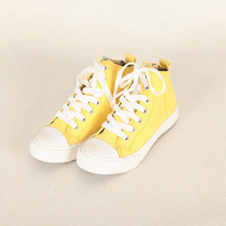 黄色帆布鞋 坚系列:品牌折扣店新款女鞋 韩版时尚休闲黄色帆布鞋X0746_推荐淘宝好看的黄色帆布鞋