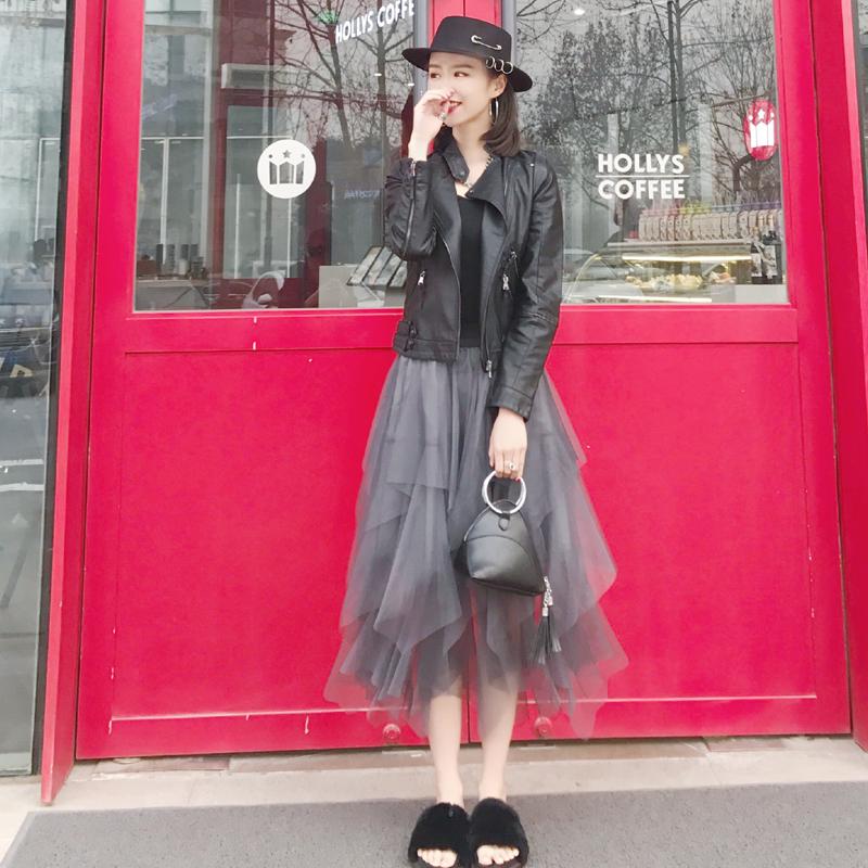 皮衣 2018春秋女士新款夹克小皮衣春装短款修身韩版pu皮立领机车小外套_推荐淘宝好看的女皮衣