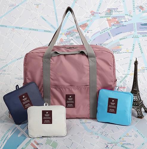 旅行帆布包 旅行折叠收纳袋大容量帆布包女手提袋出差登机防水单肩可挂行李箱_推荐淘宝好看的女旅行帆布包
