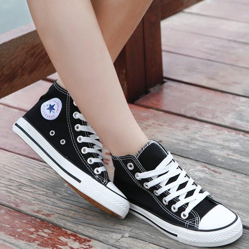 粉红色帆布鞋 包邮浅粉色高帮女士帆布鞋休闲潮学生粉红色韩版高帮帆布鞋布鞋女_推荐淘宝好看的粉红色帆布鞋