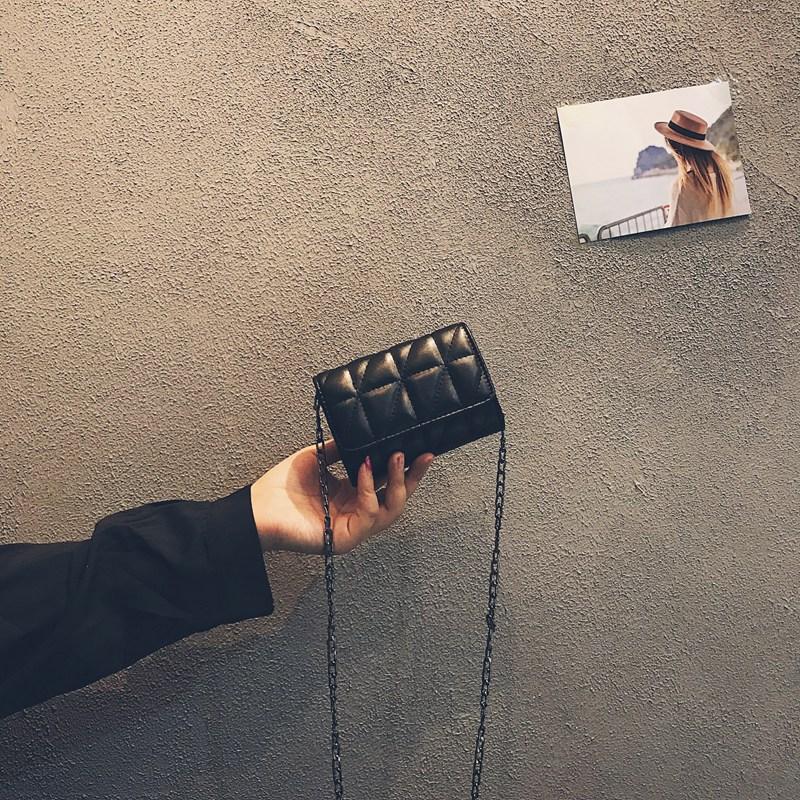链条包 包包女2019新款韩版时尚迷你零钱小包真皮单肩斜挎包百链条菱格包_推荐淘宝好看的女链条包