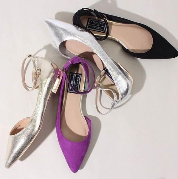 紫色平底鞋 日系19春夏季 复古甜美淑女紫色 尖头浅口一字扣带平底通勤单鞋女_推荐淘宝好看的紫色平底鞋