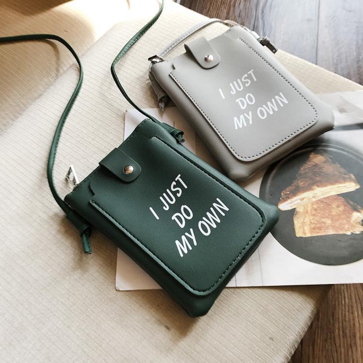 斜挎小包 韩版字母印花手机包斜挎包女新款迷你小包零钱包百搭手拿包手机袋_推荐淘宝好看的女斜挎小包