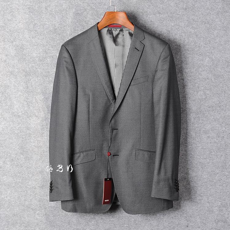 西装男 威可多专柜正品 春夏羊毛桑蚕丝纯色灰色两扣开衩西服外套 男上衣_推荐淘宝好看的西装男